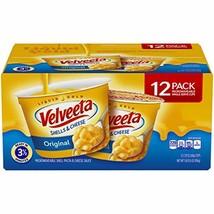 Velveeta Original Shells & Cheese Microwavable Cups, 2.39 oz Pack of 12
