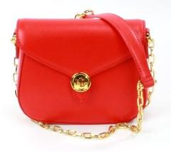 Ralph Lauren Mohn rot Mini Schultertasche kleine Handtasche - $267.17