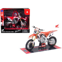 Honda Racing Team CRF450R Cole Seely #14 Motorcycle Model 1/12 by New Ray 57933 - $35.39