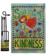 Sow Seeds of Kindness Burlap - Impressions Decorative Metal Garden Pole Flag Set - $33.97