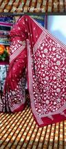 Fully Hand made kantha stitch saree /sari with unstitch blouse piece on ... - $155.00