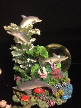 Dolphine Water Globe Music Box NIB - $21.78