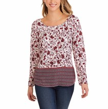 Faded Glory Women's Elevated Tunic Blouse W Cross Back Size Medium 8-10  Merlot - $16.82
