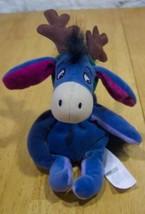 Disney Store Winnie the Pooh EEYORE REINDEER Stuffed Animal TOY Christmas - $15.35