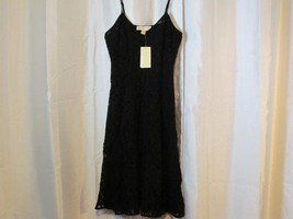 NWT Michael Kors Black Lace Sun Dress Spaghetti Strap Sz 2 Org $175 - $80.74