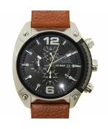 Diesel Men's Overflow DZ4296 Brown Leather Band Quartz Watch with Black ... - £107.56 GBP