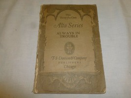 Vtg Old Antique Play Book Alta Series Always In Trouble Hooded Coon Walt... - $13.49