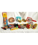 Vintage Toy Lot Tin Noisemakers Wind Up Birds Trains Kaleidoscope Japan ... - $95.00