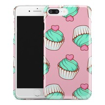 Casestry | Cupcakes With Green Frosting Pink Heart | iPhone 7 Plus Case - $11.99