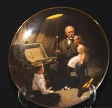"""Grandpa's Treasure Chest"" by Norman Rockwell Decorative Plate AA19-1668 Vinta image 2"
