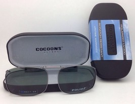COCOONS Grey Polarized Sunglasses/Eyeglasses Over Rx Clip-on REC 7-52 Gunmetal