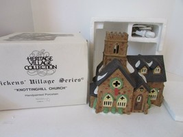 DEPT 56 55824 KNOTTINGHILL CHURCH LIGHTED BUILDING DICKENS WITH  CORD D1 - $18.57