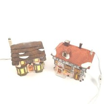 Lot 2 Department 56 Dickens Series Cottage Toys Tuttles Pub Village With... - $49.49