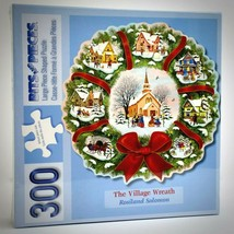 Bits and Pieces 300 Pc Christmas Village Wreath Puzzle Recycled Rosiland Solomon - $22.72
