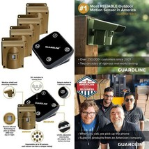 Guardline Wireless Driveway Alarm W/Four Sensors Kit Outdoor Weather Res... - $281.91