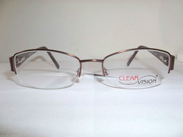 Clearvision Designer Women's Eyeglass Frames Suzanne Chestnut Size: 53-18-135 mm - $20.99