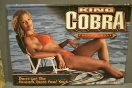 King Cobra Malt Liquor Bikini Pinup Girl Metal Tin Advertising Sign 27x19 - $139.00