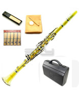 UPGRADED! SKY Band Approved YELLOW Clarinet w ABS Carrying Case Cleaning... - $105.99