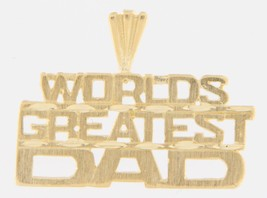 Worlds greatest dad Men's 14kt Yellow Gold Charm - $89.00