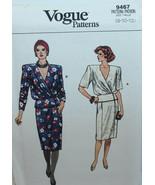 Vogue Sewing Pattern 9467 Misses Top Skirt Size 8 10 12 Vintage - $14.50