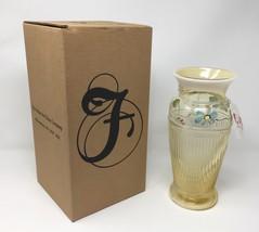 Fenton ALS Association Autumn Gold Opal Vase - Fenton and Artist Signed - New! - $129.50