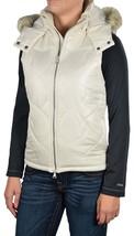 NEW Vans WOMENS FORT GREENE VEST Jacket SZ XS COAT NWT WHITE IVORY HOODE... - $23.26