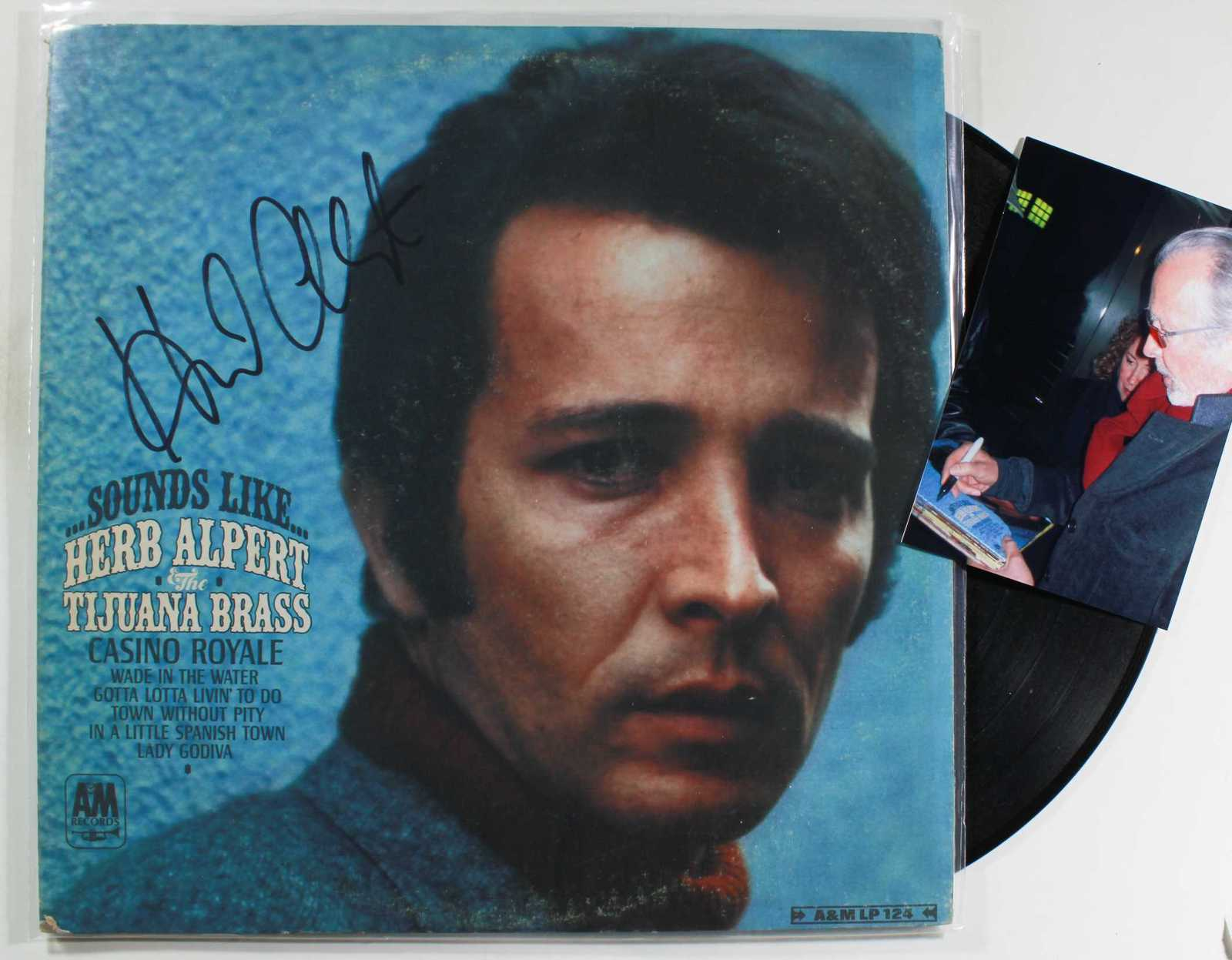 Primary image for Herb Alpert Signed Autographed Record Album w/ Proof Photo