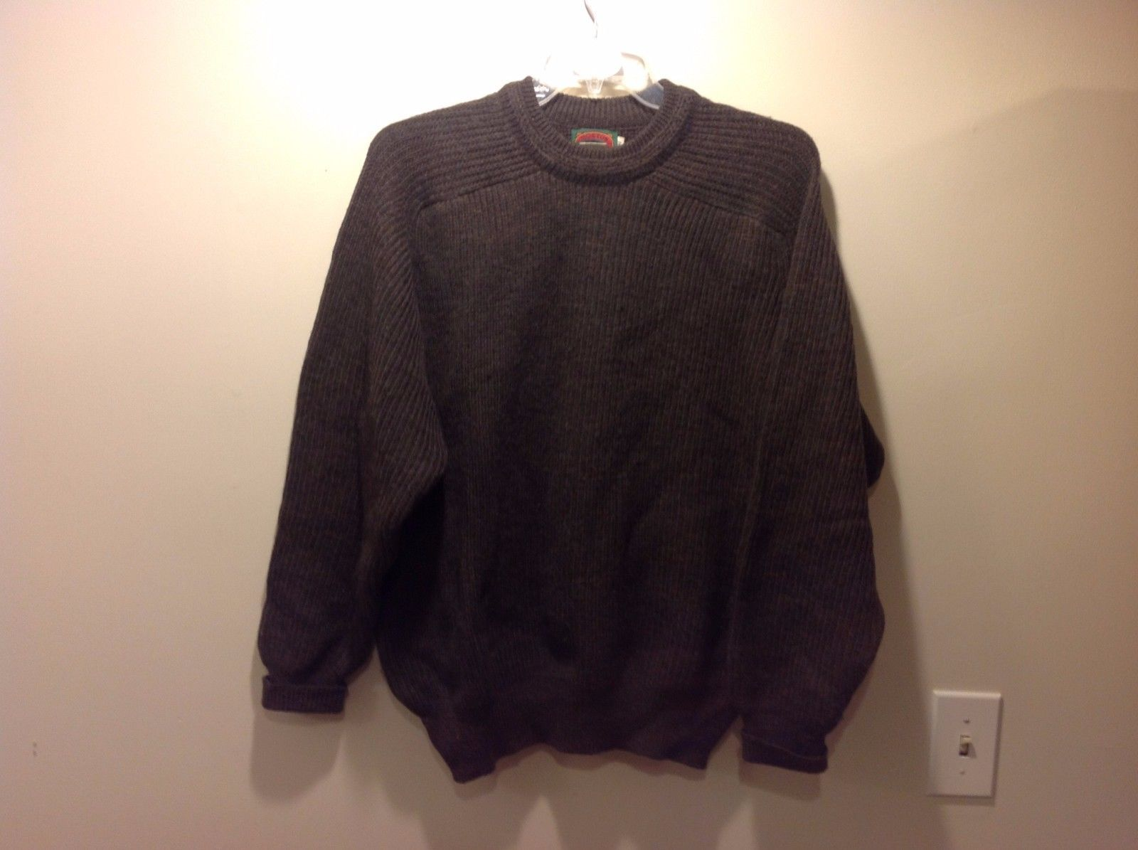 Dark Grayish Brown Heavy Oversized Virgin Wool Sweater Sz Medium