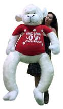 American Made 6 Foot Giant Stuffed White Gorilla Hunky Chunky Love Monkey Big Pl - $197.11