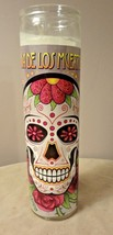 Day of the Dead Sugar Skull 7 Day Glass Candle - $7.80