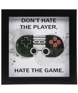 Don't Hate The Player Wood Wall Decoration Home Decor Game Room - $29.97