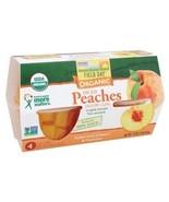 Field Day Organic Diced Peach Cups -6x4PK - - $53.95