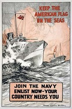 Keep the American flag on the seas Join the Navy--Enlist now-your countr... - £15.00 GBP