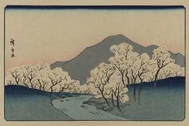 A Grove of Cherry Trees (Sakura namiki zu) 12x18 Poster by Ando Hiroshige - €17,19 EUR