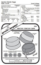 Arctic Circle Caps Hats Headgear #526 Sewing Pattern (Pattern Only) gp526 - $7.00