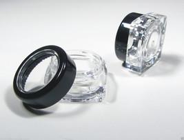 100 Beauty Containers Wholesale Square Jars Black Rim Acrylic Lid 5 Gram #3039 - $89.95