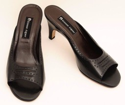 Etienne Aigner Womens Black Open Toe Leather He... - $14.95