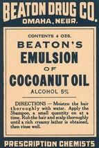 Beaton's Emulsion of Cocoanut Oil 12x18 Poster - €17,19 EUR