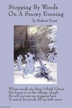 Stopping by Woods on a Snowy Evening 12x18 Poster by Robert Frost - €17,19 EUR