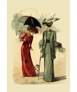 Lady in Red and Lady in Green 12x18 Poster - $19.97