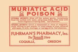 Muriatic Acid 12x18 Poster - €17,19 EUR