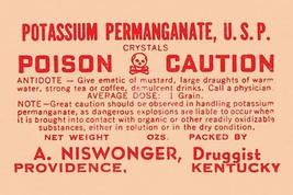 Potassium Permanganate 12x18 Poster - €17,19 EUR