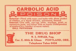 Carbolic Acid - Posion 12x18 Poster - €17,19 EUR