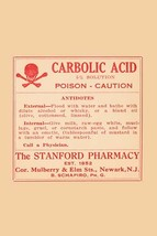 Carbolic Acid - Posion - Caution 12x18 Poster - €17,19 EUR
