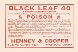 Black Leaf 40 12x18 Poster - €17,19 EUR