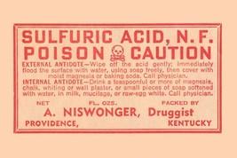 Sulfuric Acid 12x18 Poster - €17,19 EUR