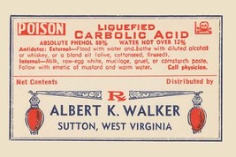 Liquified Carbolic Acid 12x18 Poster - €17,19 EUR