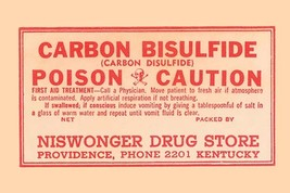 Carbon Bisulfide 12x18 Poster - €17,19 EUR