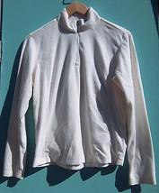 Women's Columbia Fitted Cream 1/4 Zip Pullover Fleece Jacket -- Size M - $11.87