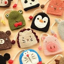 Cute Knitted Cartoon Animal Head Key Chain Lovely Key Pocket Bag - $7.99